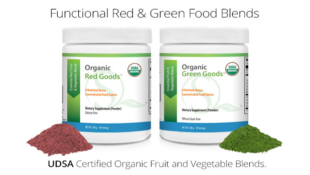 Organic Red and Green Powder